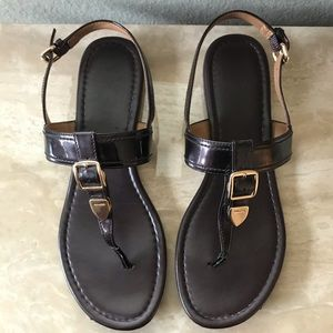 Coach Cassidy Dark Brown Sandals Size 8